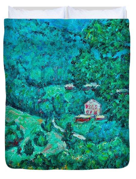 Blue Ridge Magic Duvet Cover by Kendall Kessler