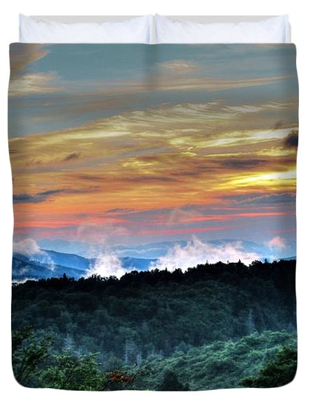 Blue Ridge Mountain Sunrise  Duvet Cover