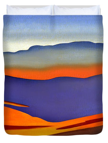 Blue Ridge Mountains East Fall Art Abstract Duvet Cover