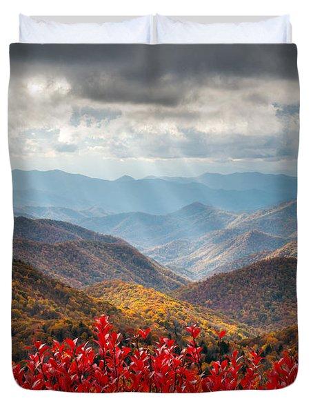 Blue Ridge Parkway Fall Foliage - The Light Duvet Cover