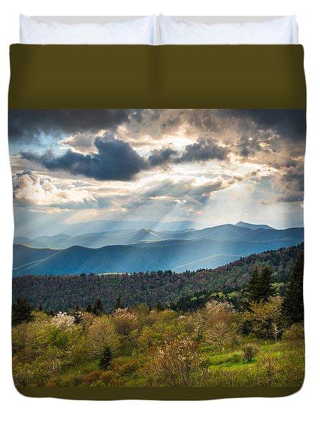 Blue Ridge Parkway North Carolina Mountains Gods Country Duvet Cover