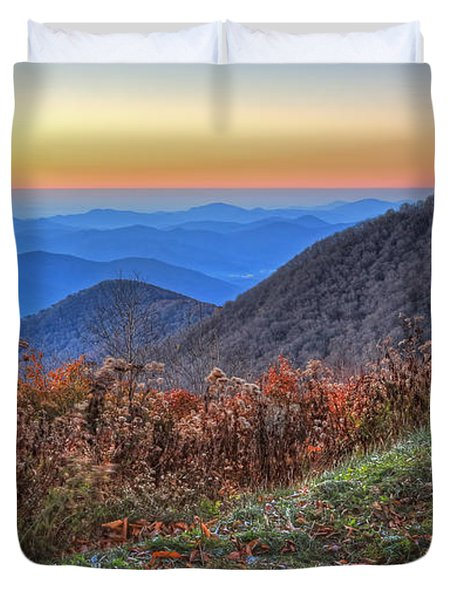 Blue Ridge Sunrise Duvet Cover