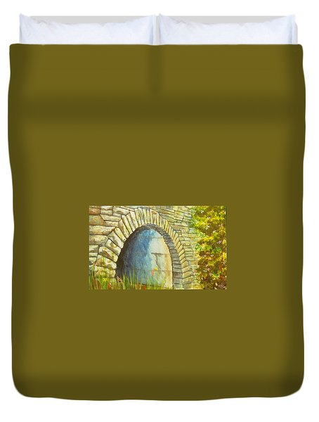 Blue Ridge Tunnel Duvet Cover