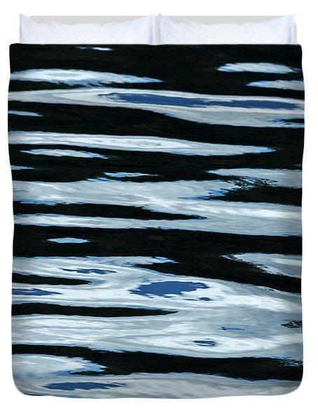 Blue Rippled Water Of British Columbias Duvet Cover