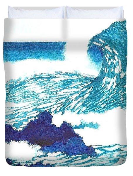 Blue Roar Duvet Cover