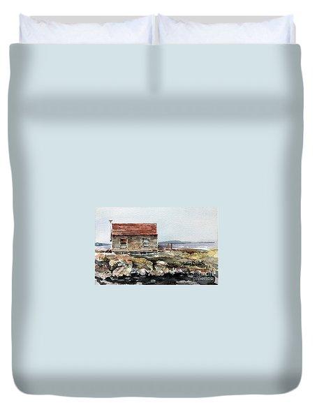 Blue Rocks Nova Scotia Duvet Cover
