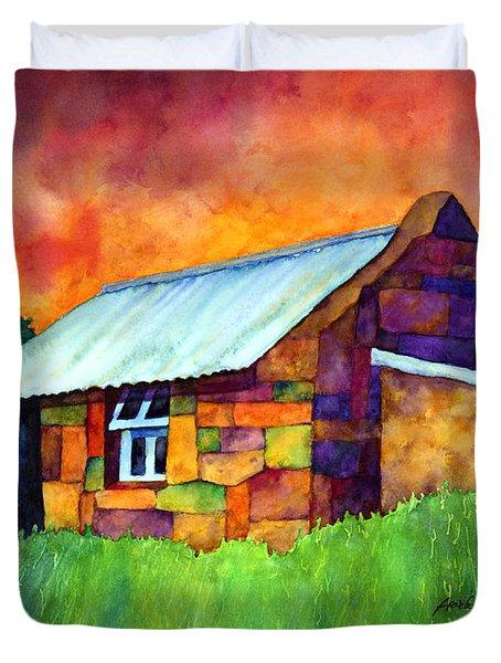 Blue Roof Cottage Duvet Cover