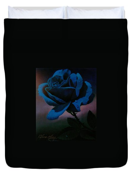 Blue Rose Duvet Cover by Blue Sky