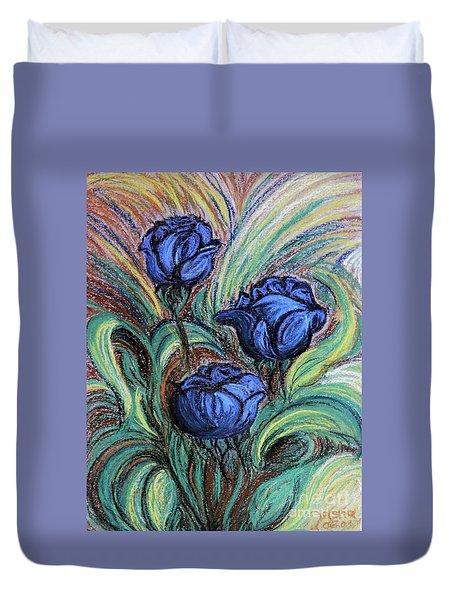 Blue Roses Duvet Cover by Jasna Dragun