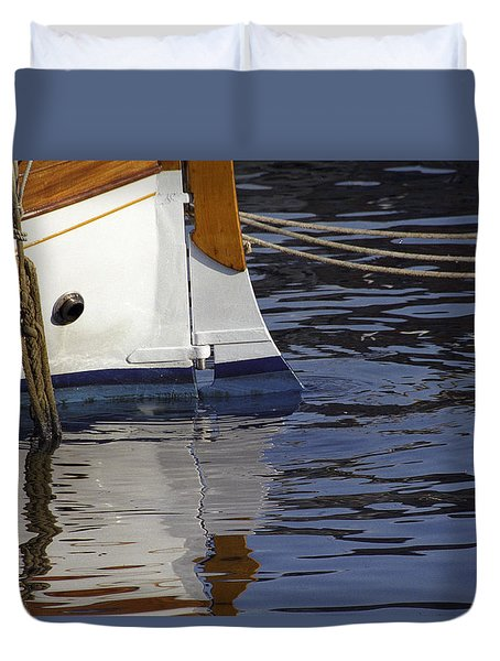 Blue Rudder Duvet Cover
