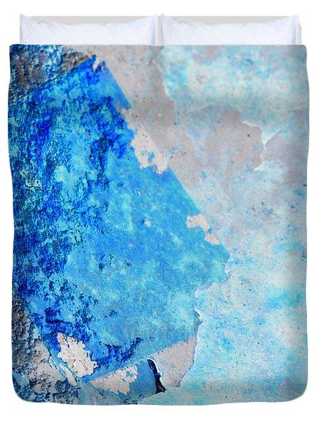 Duvet Cover featuring the photograph Blue Rust by Randi Grace Nilsberg