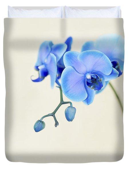 Blue Sapphire Orchid Duvet Cover
