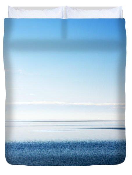 Blue Sea Scene Duvet Cover