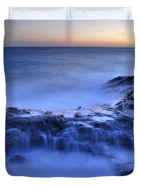 Blue Seaside Duvet Cover by Guido Montanes Castillo