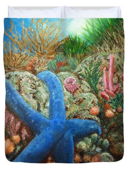 Blue Seastar Duvet Cover