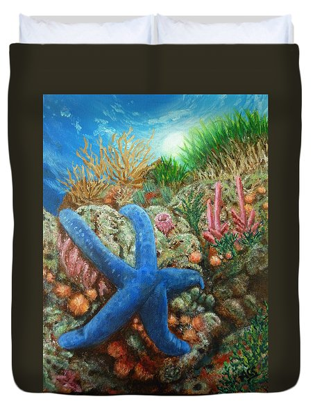 Blue Seastar Duvet Cover