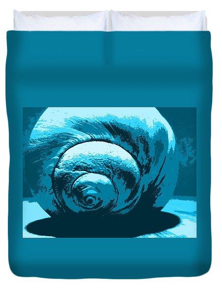 Blue Shell - Sea - Ocean Duvet Cover
