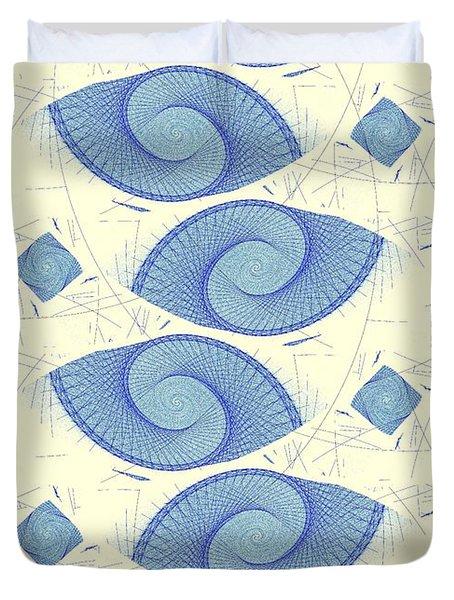 Blue Shells Duvet Cover by Anastasiya Malakhova