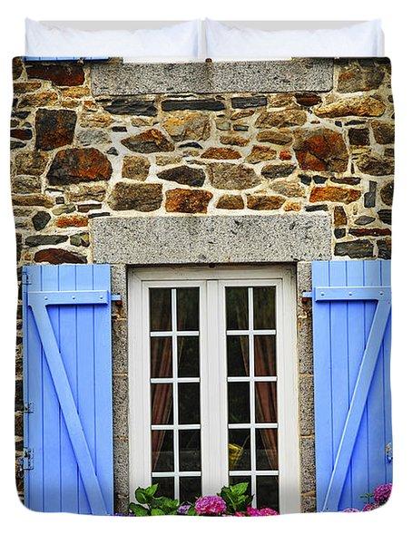 Blue Shutters Duvet Cover by Elena Elisseeva