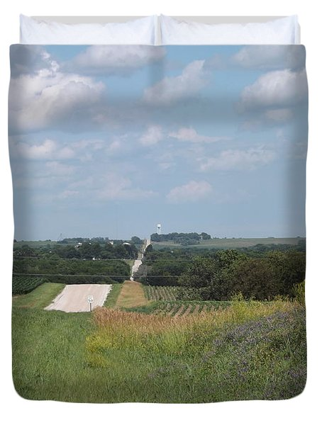 Blue Skies Duvet Cover by Caryl J Bohn