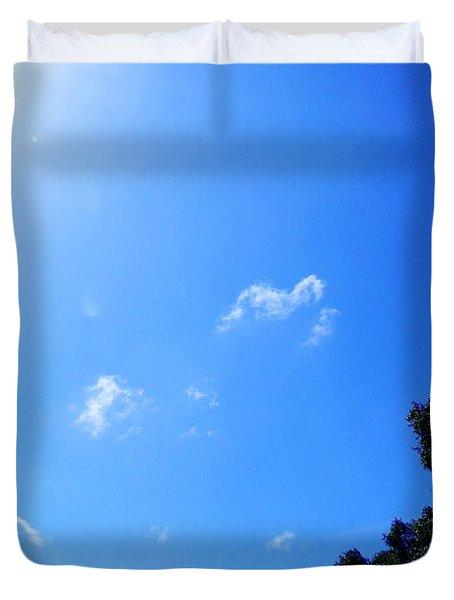 Blue Sky And Sunshine Duvet Cover