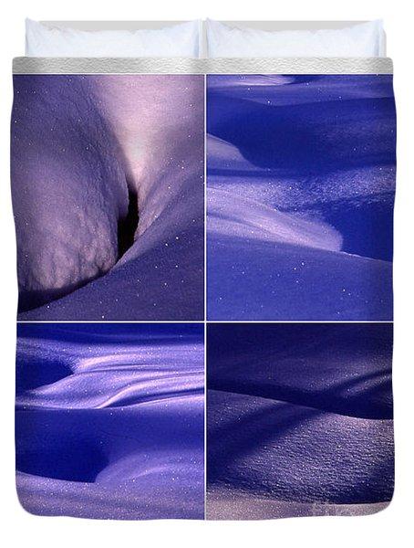 Duvet Cover featuring the photograph Blue Snow by Randi Grace Nilsberg