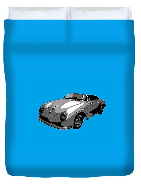 Blue Speedster Duvet Cover by J Anthony