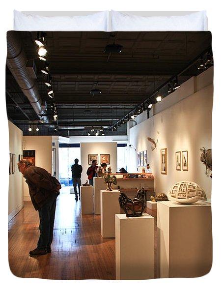 Blue Spiral Gallery In Asheville Duvet Cover