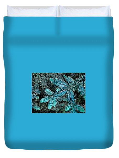 Duvet Cover featuring the photograph Blue Spruce by Daniel Thompson