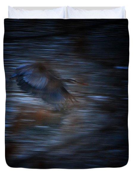 Blue Streak Duvet Cover by Robert McCubbin