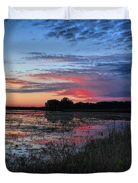 Blue Sunset Over The Refuge Duvet Cover