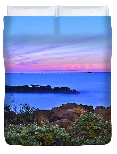 Blue Sunset Duvet Cover by Frozen in Time Fine Art Photography