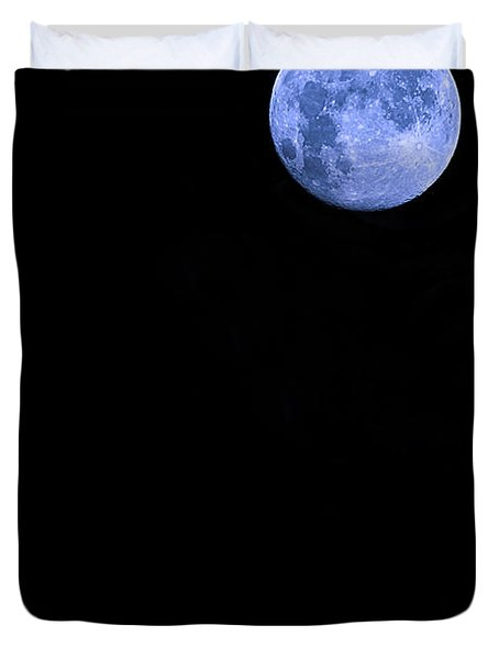 Blue Supermoon Duvet Cover by Trish Mistric