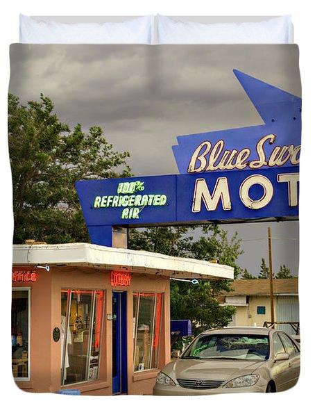 Blue Swallow Motel Duvet Cover