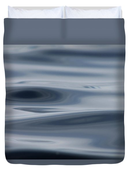 Duvet Cover featuring the photograph Blue Swirls by Cathie Douglas