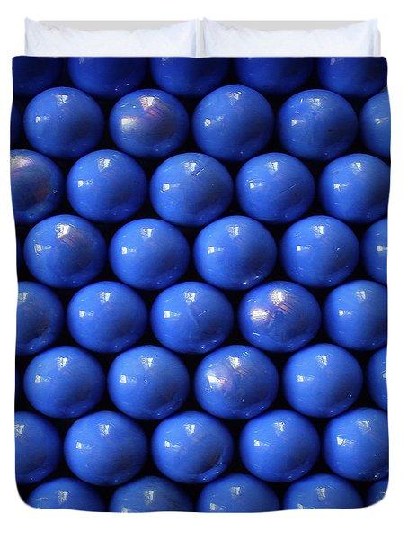 Blue Symmetry Duvet Cover by Danuta Bennett