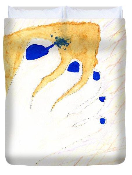 Blue The Big Toe Duvet Cover