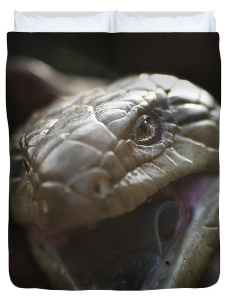 Blue Tongue Lizard Duvet Cover by Joy Watson
