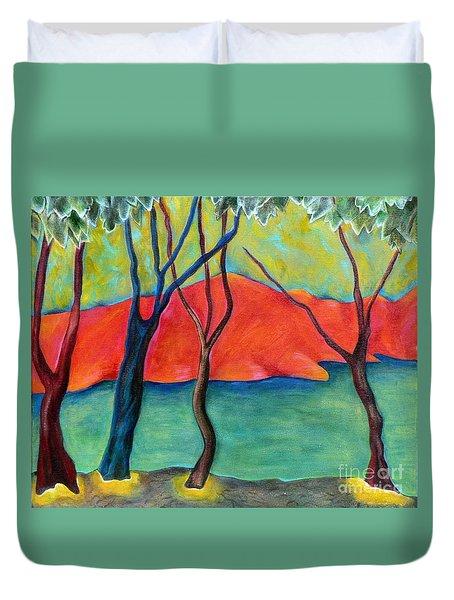 Blue Tree 2 Duvet Cover