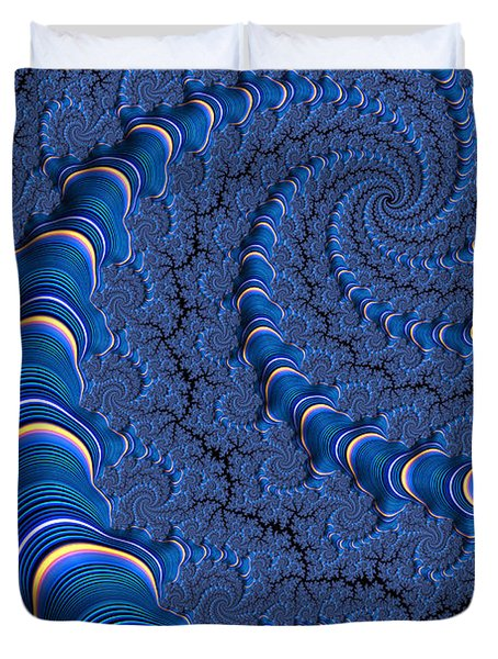 Blue Tubes Duvet Cover by John Edwards