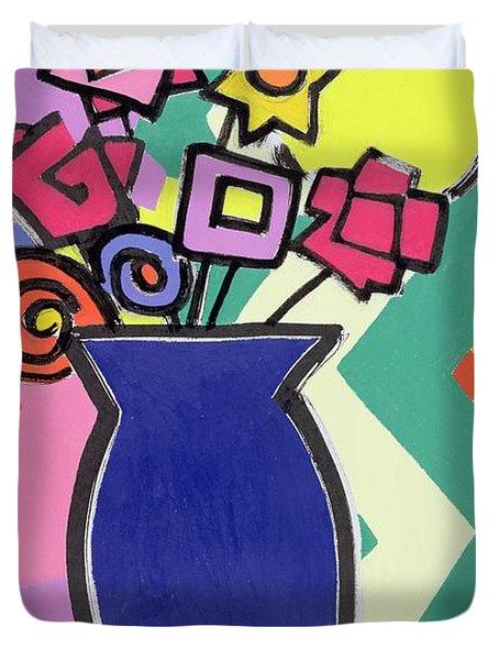 Blue Vase Duvet Cover by Bodel Rikys