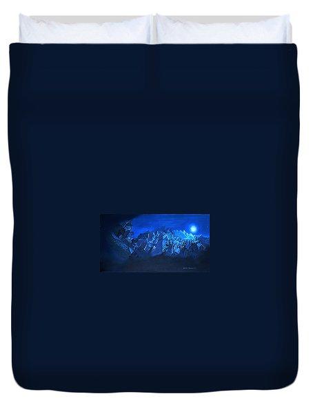 Blue Village Duvet Cover