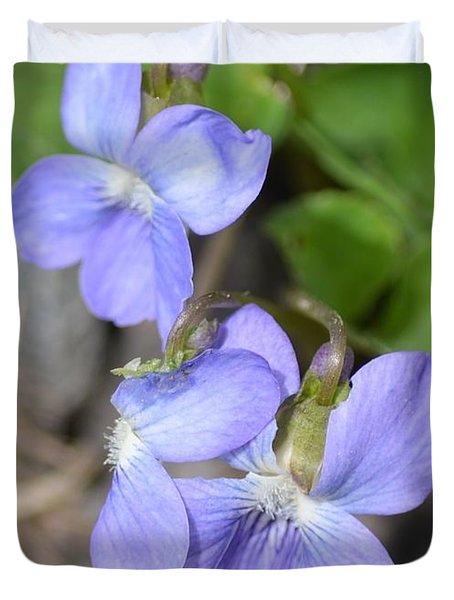 Blue Violet Duvet Cover