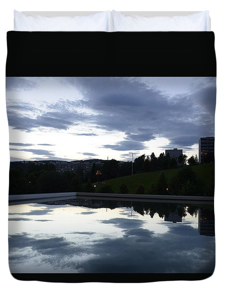 Duvet Cover featuring the photograph Blue Visions 1 by Teo SITCHET-KANDA