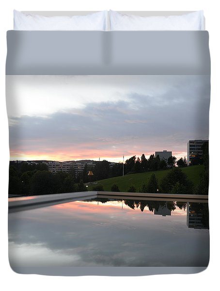 Duvet Cover featuring the photograph Blue Visions 2 by Teo SITCHET-KANDA