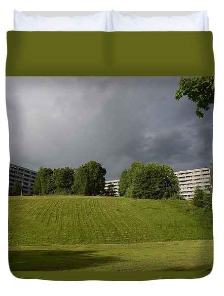 Duvet Cover featuring the photograph Blue Visions 3 by Teo SITCHET-KANDA