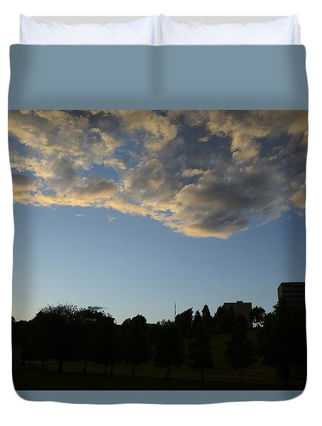 Duvet Cover featuring the photograph Blue Visions 4 by Teo SITCHET-KANDA