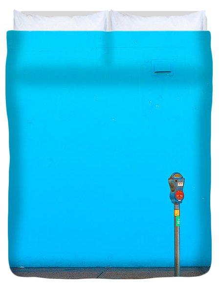Blue Wall Parking Duvet Cover