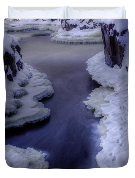 Blue Water And Ice Duvet Cover