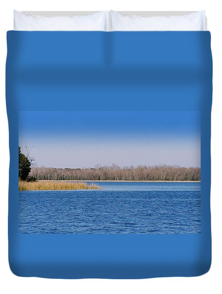 Blue Water Blue Sky Duvet Cover by Paul  Wilford